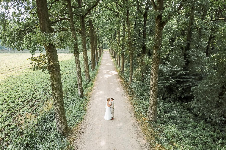 Drone bruidsfotografie